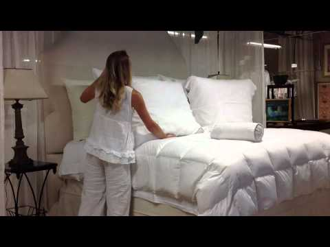 How to dress your bed with the European Sleep System Pillows