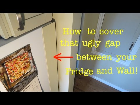 How to ● Conceal Gap from Fridge to Wall ( easily! )