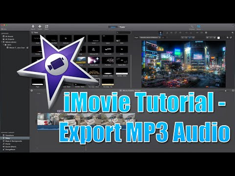 iMovie Tutorial 2015 - Exporting MP3 From Video on a Mac