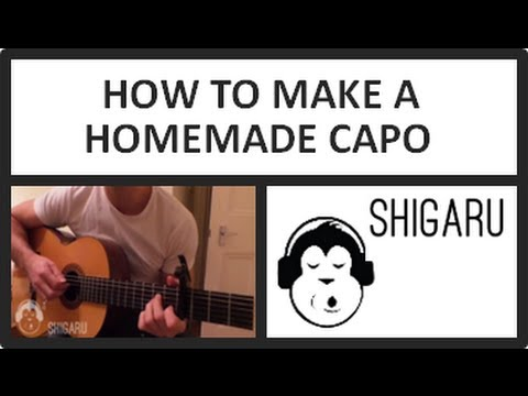 How to Make A Homemade Capo for Your Guitar (Lesson - Do it Yourself)