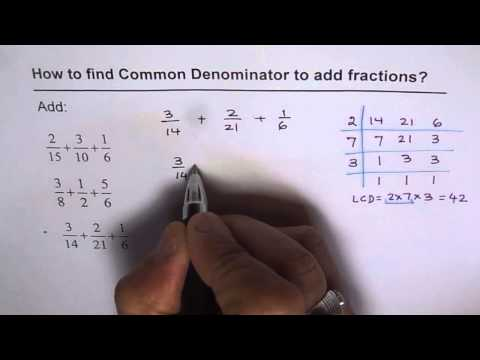 Find Least Common Denominator and Add The Fractions