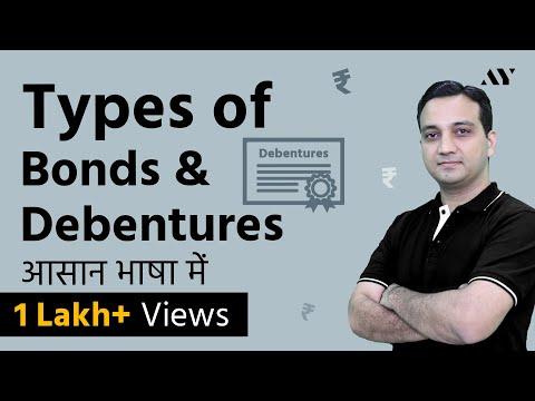 Types of Bonds & Debentures - Hindi (2018)