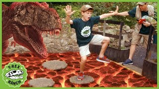 Download T-Rex Dinosaur & Floor Is Lava! Pretend Play Escape with Dinosaurs at Gulliver's Park for Kids Video