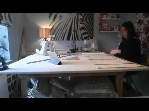 Time Lapse Video Making a Roman Blind