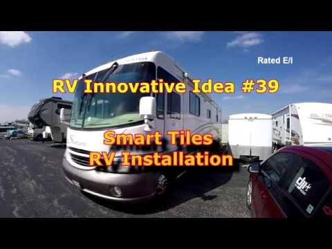 RV Innovative Idea #39 ~ Smart Tiles RV Installation (Kitchen Area)