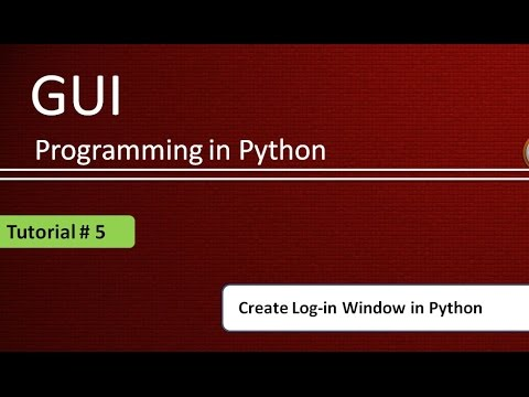 How to create Log-in window in Python:  Python GUI Programming Using Tkinter # 5