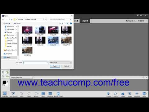 Photoshop Elements 2019 Tutorial Opening a Camara Raw Image from the Editor Adobe Training