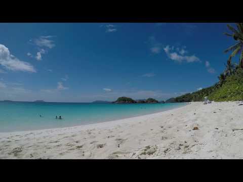 St John Trunk Bay Beach Time (Time-Lapse)