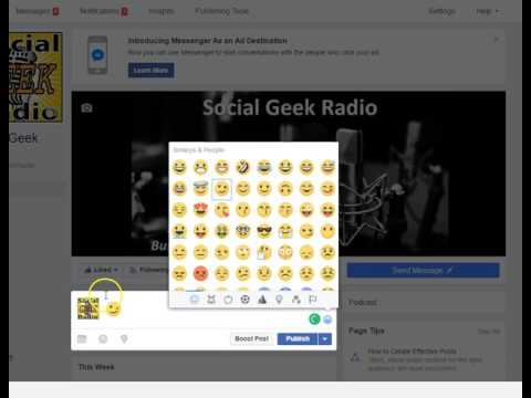 Adding Emoji's to Facebook posts