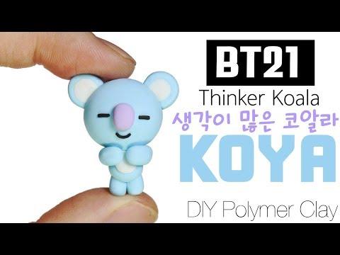 BT21 BTPlanet Series: How to DIY KOYA Polymer Clay Tutorial