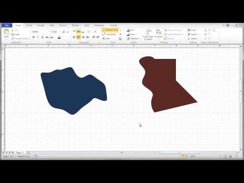 Visio 2010 Freeform Lines and Shapes Tutorial