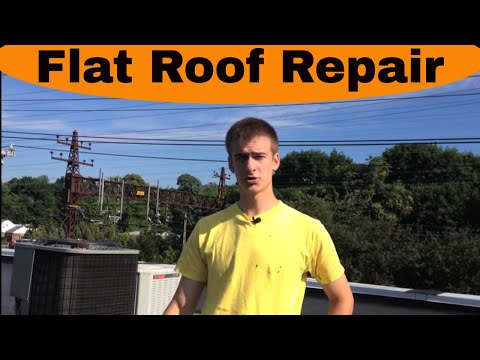 Flat Roof Repair - New Canaan - EPDM rubber roof very hard to detect a leak.