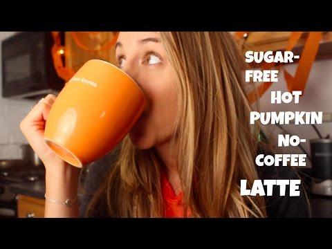 Hot Pumpkin Sugar-Free No-Coffee Latte! (Dairy-free)