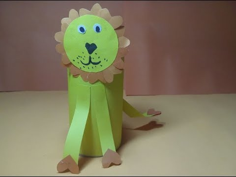 Toilet paper roll Life Hack-Paper lion-How to make Origami Lion ?