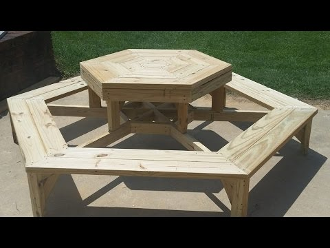 Hexagon picnic table build