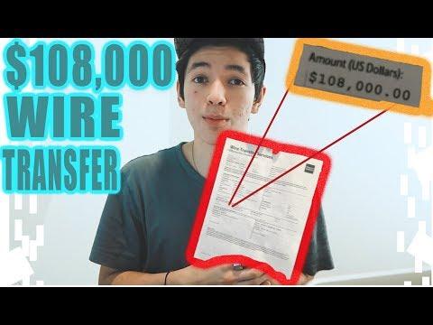 MY $108,000.00 WIRE TRANSFER