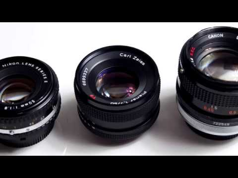 50mm Vintage Manual Lens Sharpness Comparison - Six Lenses Tested