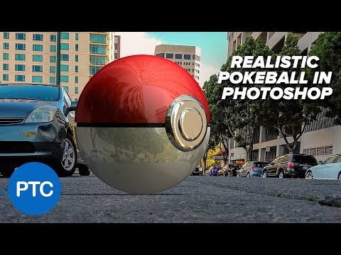 How To Create a REALISTIC Pokéball In Photoshop - 3D Photoshop Tutorial