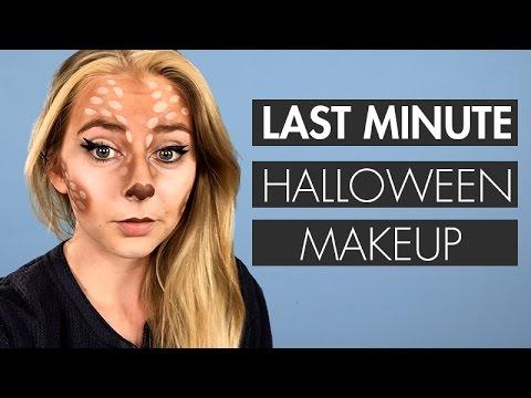 Last Minute No Spend Snapchat Deer Halloween Makeup