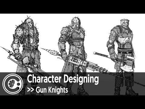 Character Designing - Gun Knights
