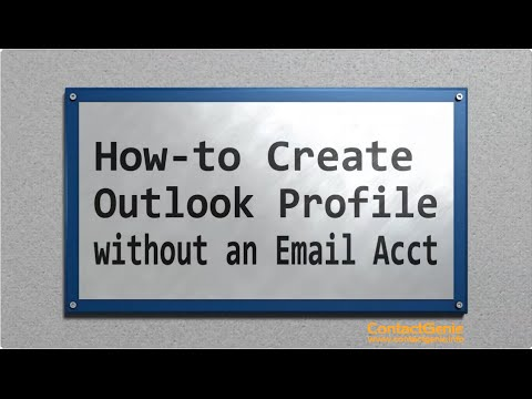 Create an Outlook profile without an email account