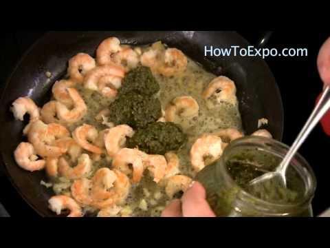 Shrimp Pasta With Pesto Sauce