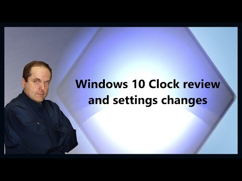 Windows 10 Clock review and settings changes