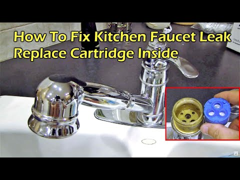 How To Fix Kitchen Faucet Leak - Replace the Cartridge Inside