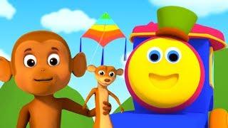 Pop goes the Weasel   Kids Songs & Nursery Rhymes   Bob The Train Cartoons