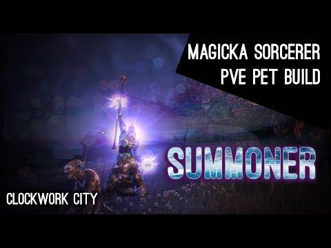 Magicka Sorcerer Pet PvE Build