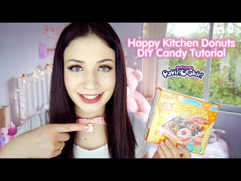 Popin' Cookin' Happy Kitchen Donuts ❤ DIY Candy Tutorial