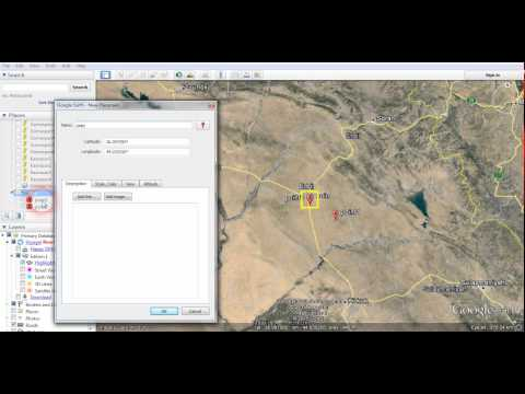 How to add place marks on Google earth