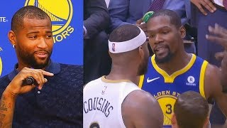 DeMarcus Cousins on Fighting Kevin Durant and Draymond Green After Joining The Warriors!