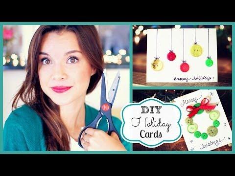 DIY Holiday Cards ❄ #DIYDecember Day 3