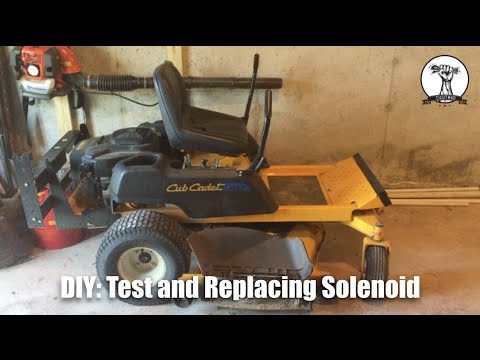 DIY: Mower Will Not Crank - Diagnose and Replace Faulty Solenoid Cub Cadet RZT