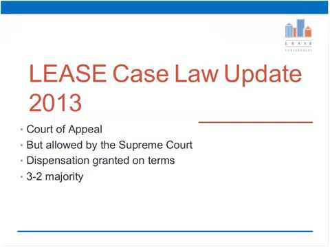 Case Law Update 2013