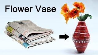 How to Make Flower Vase with Newspaper - Best out of Waste