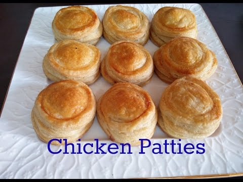 Chicken patties recipe | homemade puff pastry | how to make in oven-