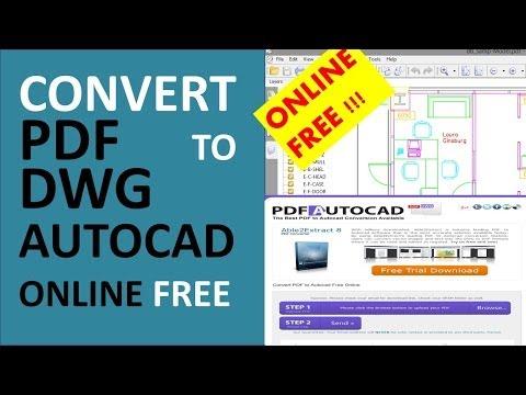 convert pdf a autocad online
