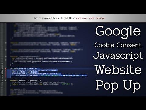 Create an EU Cookie Consent Javascript Website Pop Up