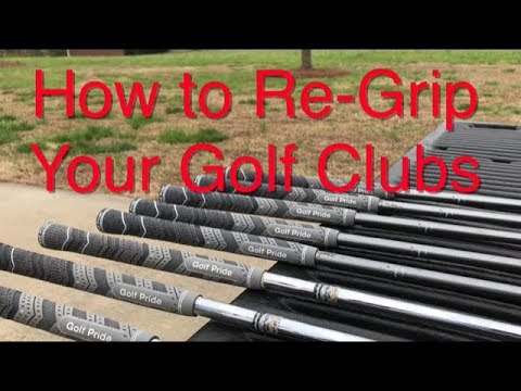 How to ReGrip your Golf Clubs in minutes - Simple and Easy