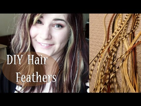☽ DIY FEATHER HAIR EXTENSIONS TUTORIAL STEP BY STEP ☾