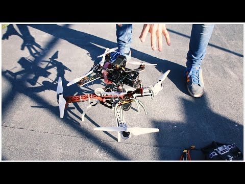 Crashing drones for SCIENCE.