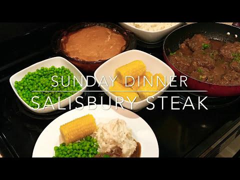 Peach Cobbler and Salisbury Steak!! | Sunday Dinner Start to Finish