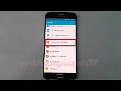 Android Lollipop : How to Turn on or Turn off Screen Lock Sounds on Samsung Galaxy S6