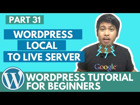 WordPress Tutorial for Beginners - WordPress Local to Live Server (Ftp and Database) - Part 31