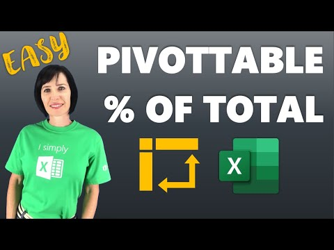 Excel PivotTable add Percentage of Total column
