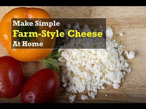 Simple Farm Style Cheese | Homemade