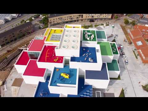 Drone Video of BIG-Designed LEGO House Before Its Grand Opening