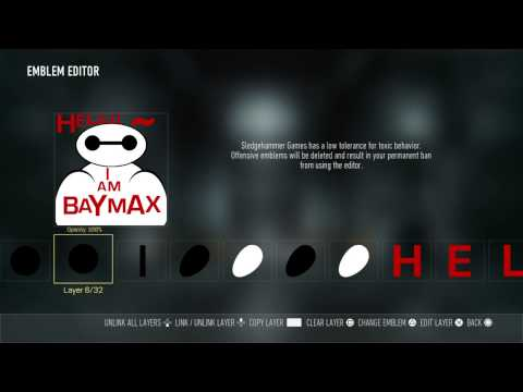 Call of Duty®: how to make baymax emblem